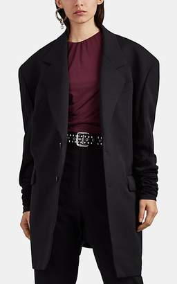 Y/Project Women's Wool Twill & Double-Knit Jersey Oversized Blazer - Black