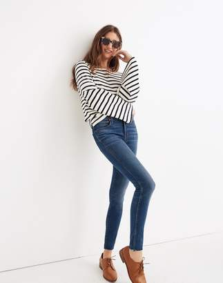 """Madewell Petite 9"""" High-Rise Skinny Jeans in Paloma Wash: Raw-Hem Edition"""