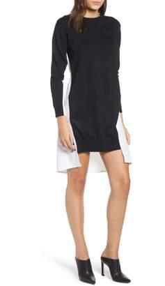 ENGLISH FACTORY Combo Sweater Dress