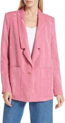 Rachel Comey Lovely Wool Blend Moire Blazer