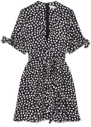 Faithfull The Brand Birgit Floral-print Voile Mini Dress - Navy