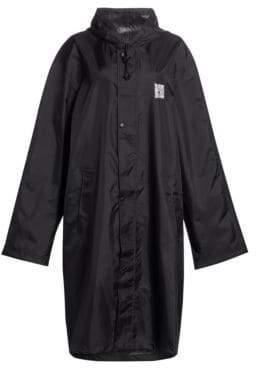 Vetements Women's Oversize Hooded Raincoat - Black