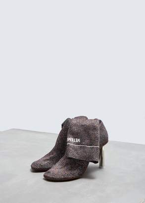 Vetements Lighter Lurex Sock Boots
