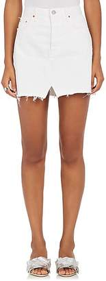 GRLFRND Women's Milla Denim Miniskirt - White