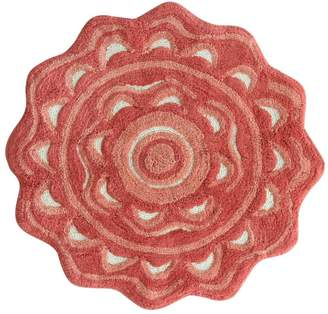 Jessica Simpson Home Medallion Hand-Tufted Cotton Coral Area Rug