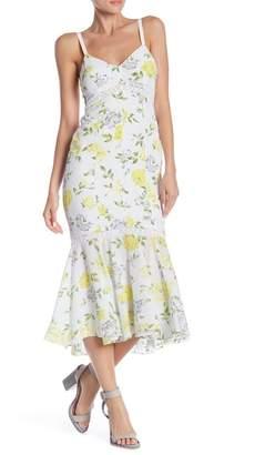 Cinq à Sept Jolene Floral Silk Midi Dress