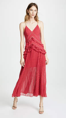 Self-Portrait Self Portrait Panelled Maxi Dress