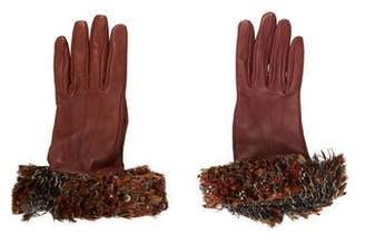 Chanel Lambskin Feather Gloves