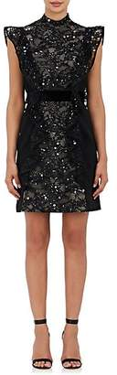 J. Mendel Women's Embellished Silk Sleeveless Sheath Dress - Black