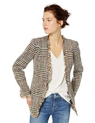 Calvin Klein Women's Graphic Tweed Flyaway Jacket