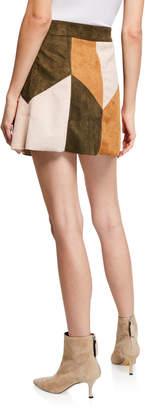 bdd7e00cc ... Raga Becca Patchwork Faux-Suede Mini Skirt