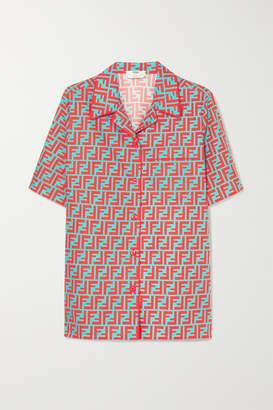 Fendi Printed Cotton-poplin Shirt - Coral