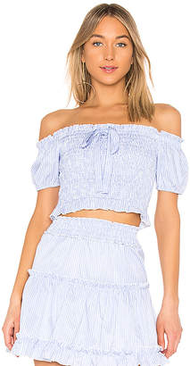 Endless Rose Off the Shoulder Smocked Top