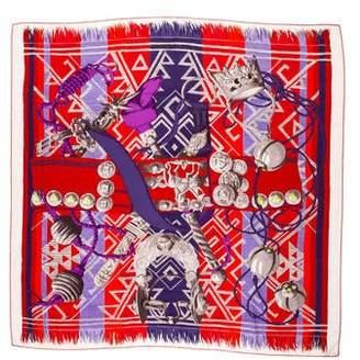 Hermes Lujo Criollo Cashmere Silk Shawl