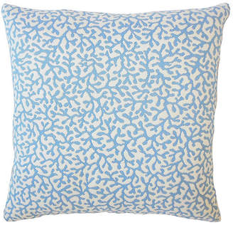 One Kings Lane Coral Coaster Outdoor Pillow - Blue