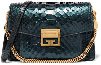 Givenchy Gv3 Small Python Shoulder Bag - Green