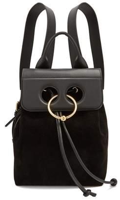 Jw Anderson - Pierce Mini Leather Backpack - Womens - Black