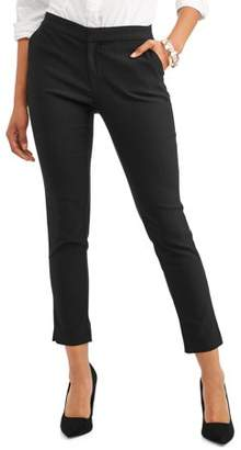 Time and Tru Women's Casual Pant with Back Elastic Waist