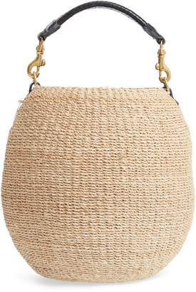 Clare Vivier Pot de Miel Top Handle Straw Basket Bag