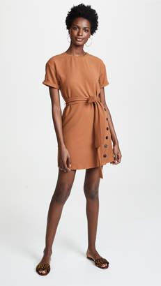 J.o.a. Tie Front Short Sleeve Dress