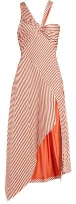 Jonathan Simkhai Asymmetric Striped Dress - Womens - Red Stripe