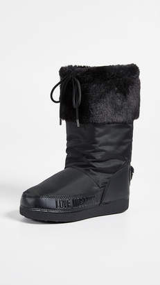 Moschino Love Snow Boots with Sequin Hearts