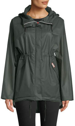 Hunter Waterproof Drawcord Vinyl Smock Rain Jacket w/ Hood