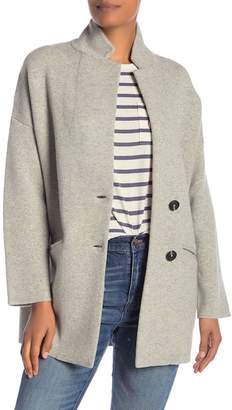 Madewell Solid Knit Longline Sweater Jacket