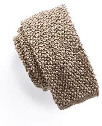 Todd Snyder Classic Silk Knit Tie in Khaki