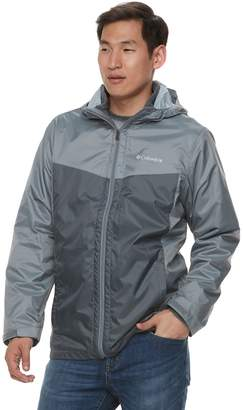 Columbia Men's Weather Drain Interchange Colorblock 3-in-1 Hooded Jacket