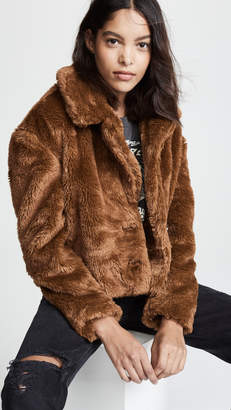 Free People Mena Faux Fur Coat
