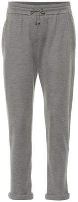 Brunello Cucinelli Cotton and silk-blend trackpants
