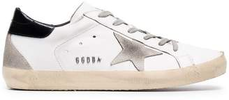 Golden Goose Distressed White Superstar sneakers