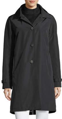 Jane Post 3-in-1 Button-Front Rain Coat