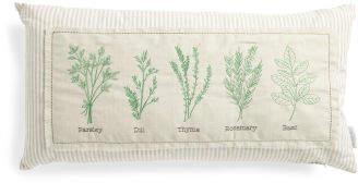 14x27 Linen Blend Garden Herb Pillow