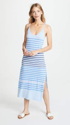 Sundry Stripes Spaghetti Strap Maxi Dress