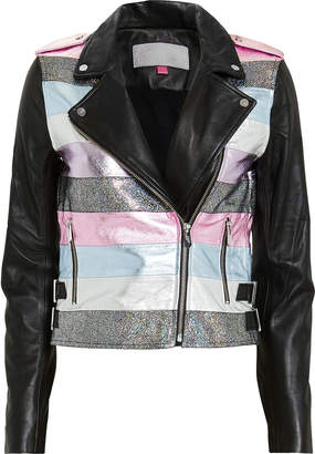The Mighty Company Nesso Crop Leather Jacket