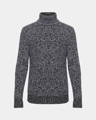 Theory Marled Cashmere Turtleneck