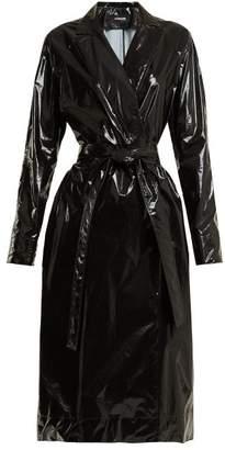 Rubbish Kwaidan Editions Tie Waist Vinyl Trench Coat - Womens - Black