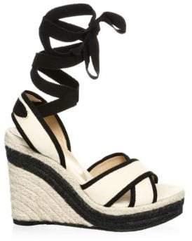 BEIGE Castañer Castañer Women's Hiedra Wedge Espadrilles Size 36 (6)