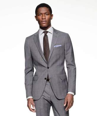 Todd Snyder Black Label Sutton Suit Jacket in Italian Charcoal Glen Plaid Tropical Wool