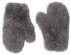 Glamour Puss Glamourpuss Signature Knitted Faux Fur Mittens