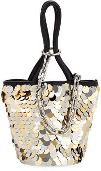 Alexander Wang Roxy Mini Sequined Bucket Bag