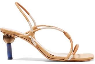 Jacquemus Olbia Leather Slingback Sandals - Beige