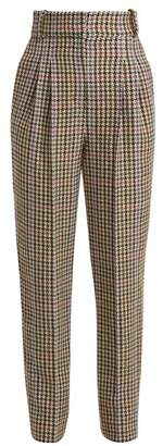 Emilia Wickstead Kia Tapered Houndstooth Trousers - Womens - Beige Multi