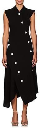 Proenza Schouler Women's Button-Detailed Asymmetric Midi-Dress - Black