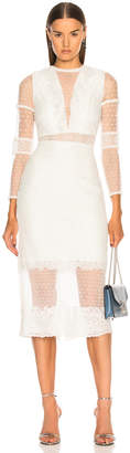 Alexis Elize Dress in White Lace | FWRD