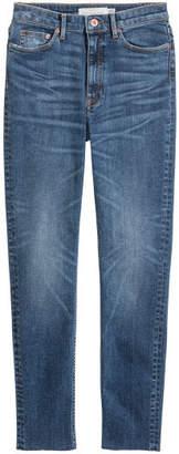 H&M Slim Ankle High Jeans - Blue
