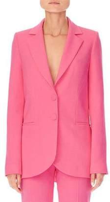 Carolina Herrera Notched-Lapels Two-Button Stretch-Wool Jacket