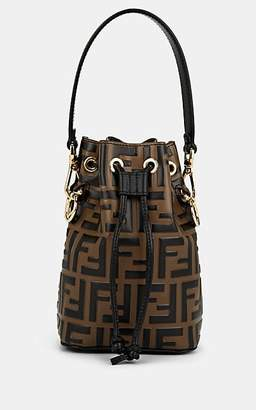 Fendi Women's Mon Tresor Mini Leather Bucket Bag - Tabacco